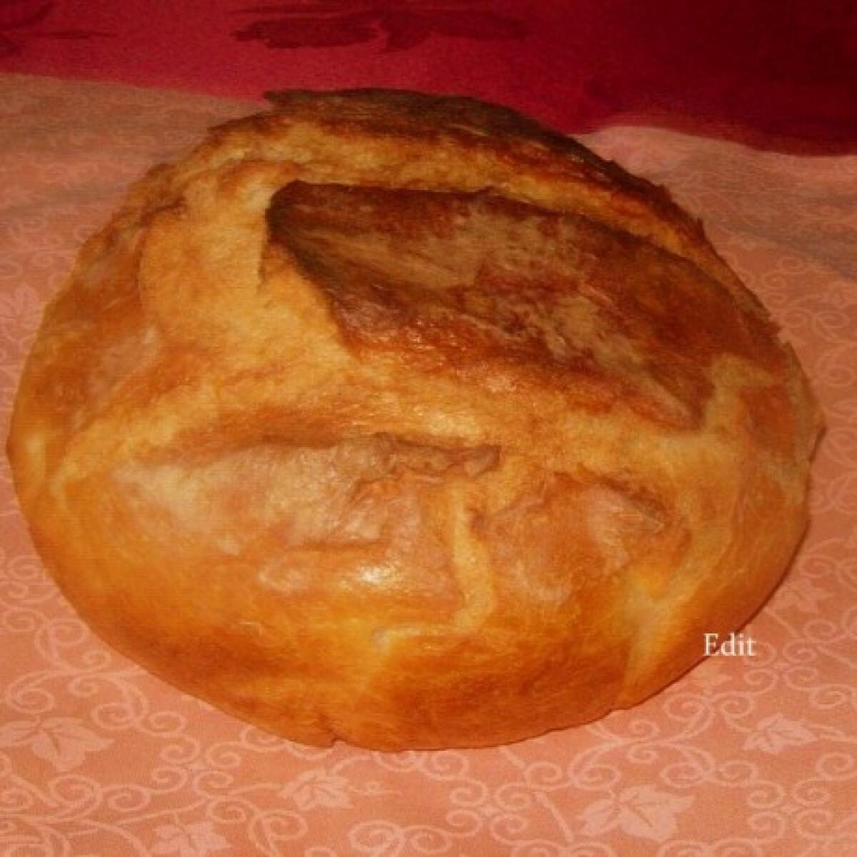 Hűtőben kelt házi fehér kenyér