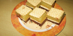Pudingos-kekszes sütemény