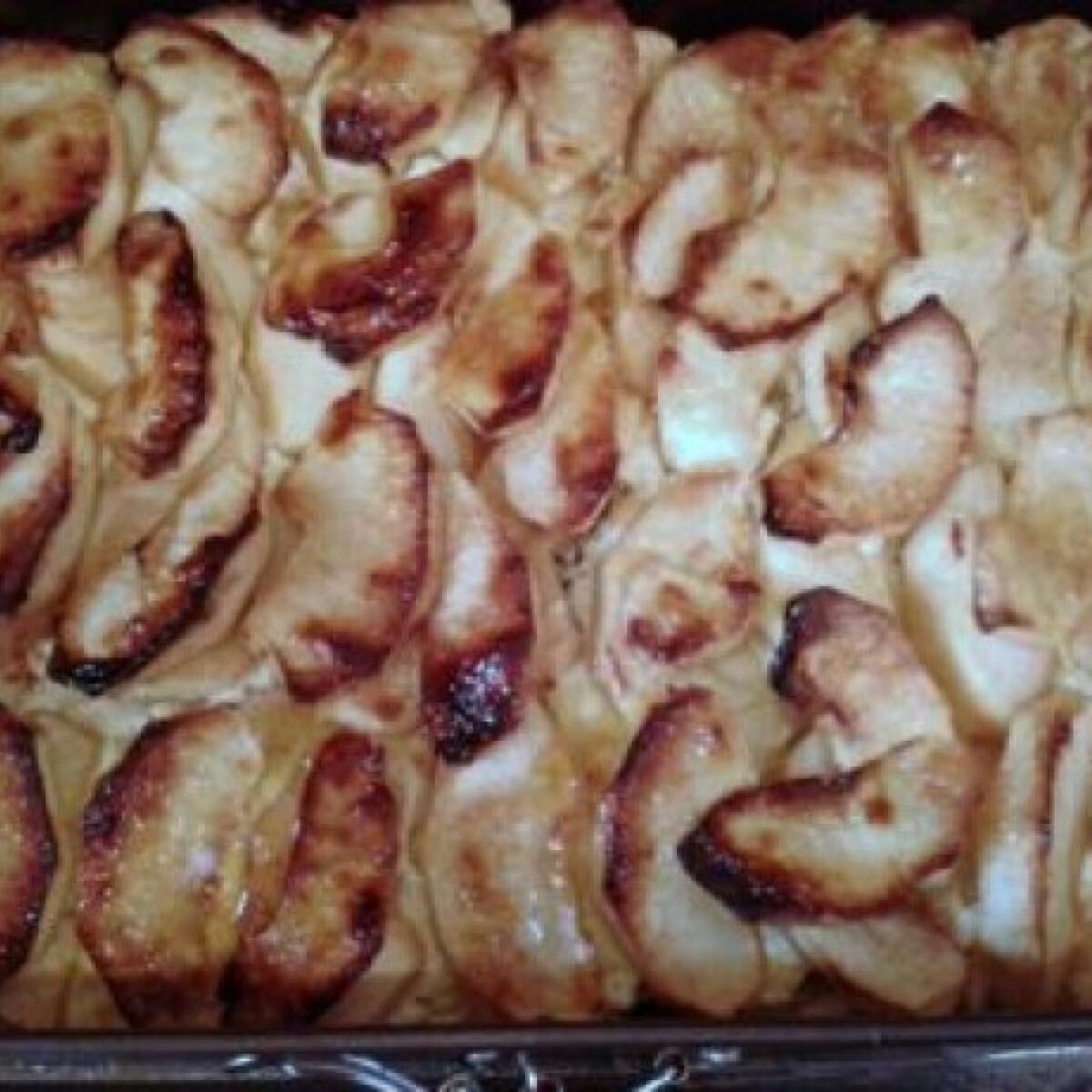 Ezen a képen: Almás-túrós süti liszt nélkül
