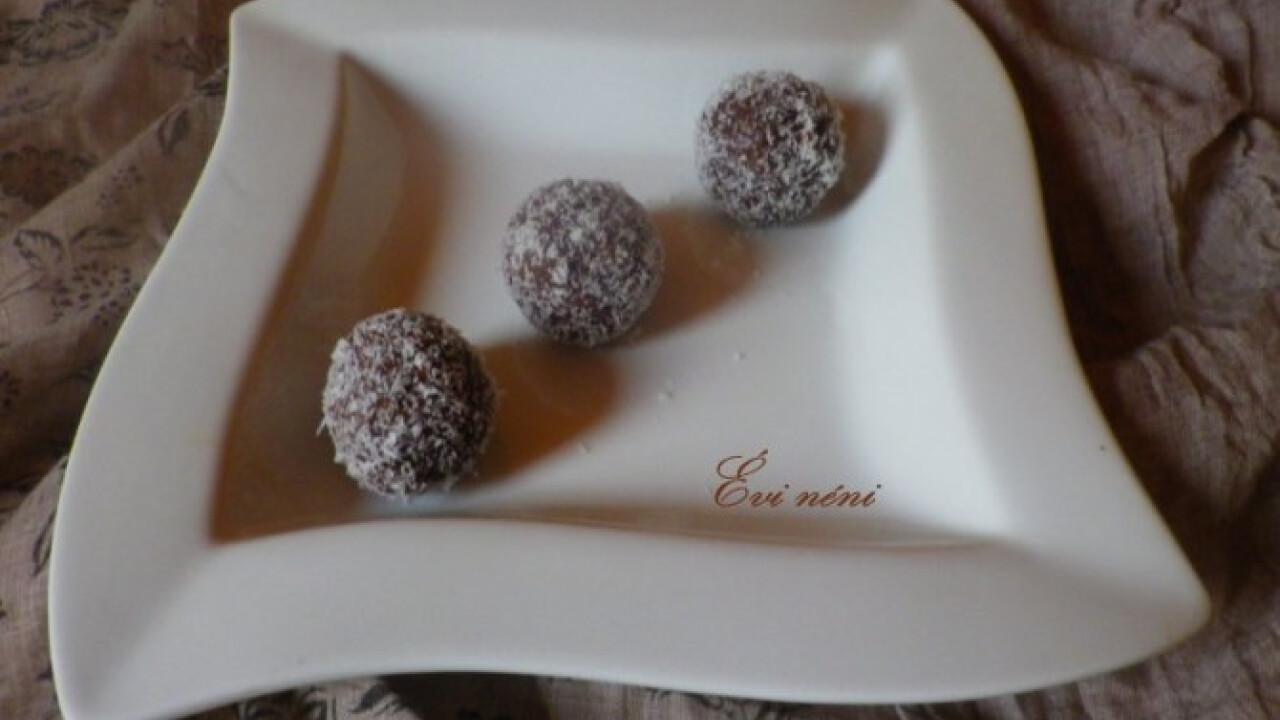 Meggyes-csokis kókuszgolyó