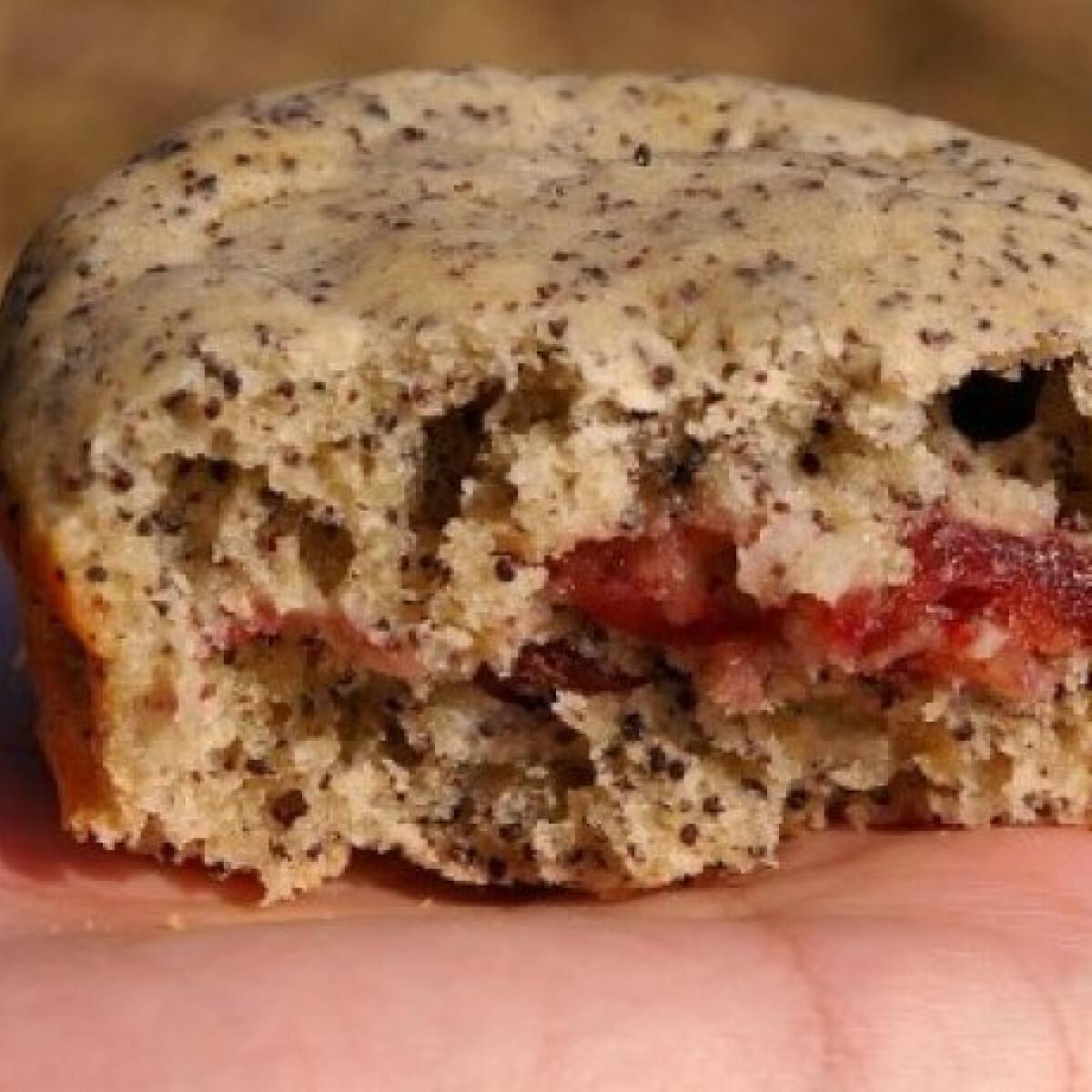 Enyhén mákos muffin