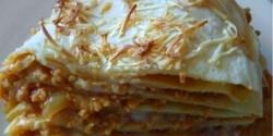 Palacsinta-lasagne vega módra