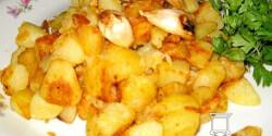 Fokhagymás-libazsíros krumpli