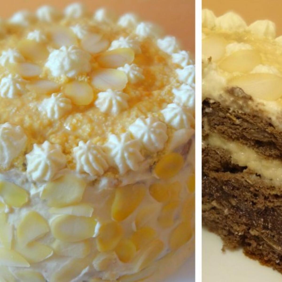 Háromkrémes mini torta