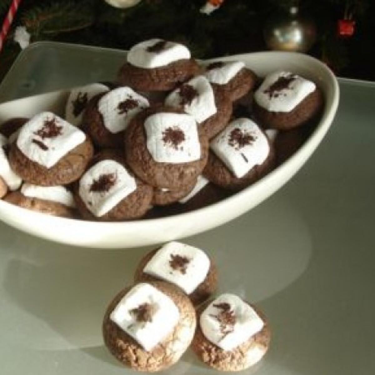 Mályvacukros-csokis korongok