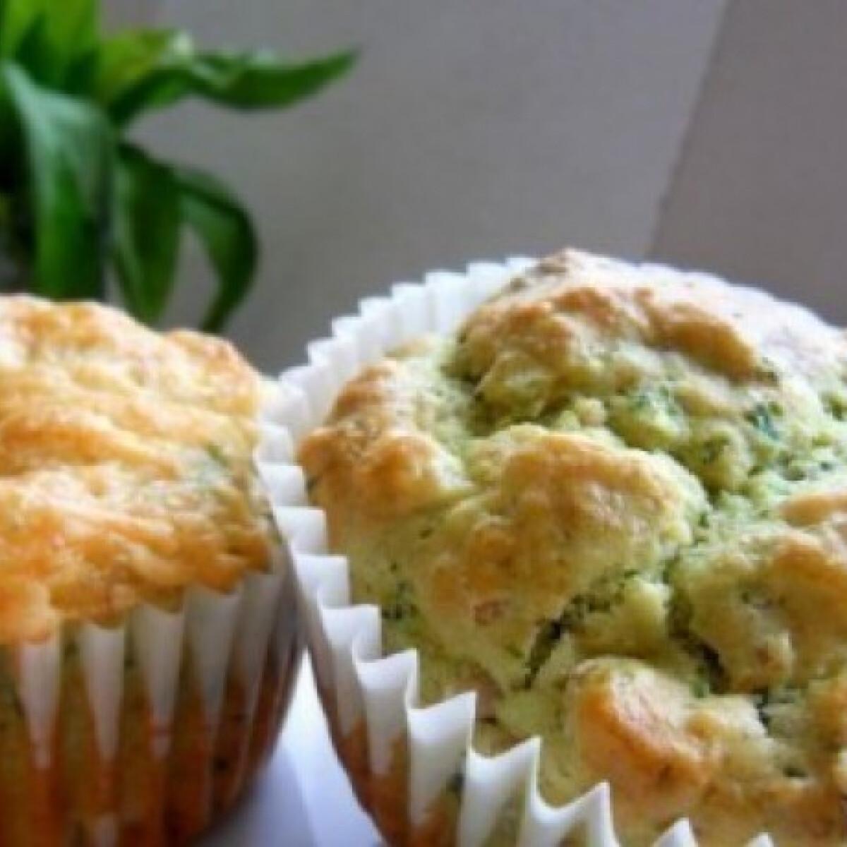Medvehagymás-sonkás muffin