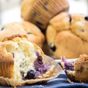 Könnyű áfonyás muffin