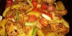 Tepsis csirkemell burgonyával