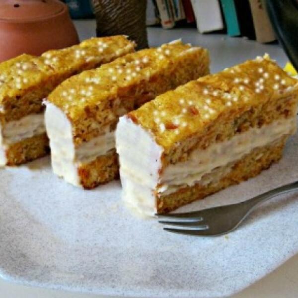 Sütőtökös szelet vaníliakrémmel