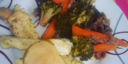 Citromos-almás csirkemell zöldségkörettel