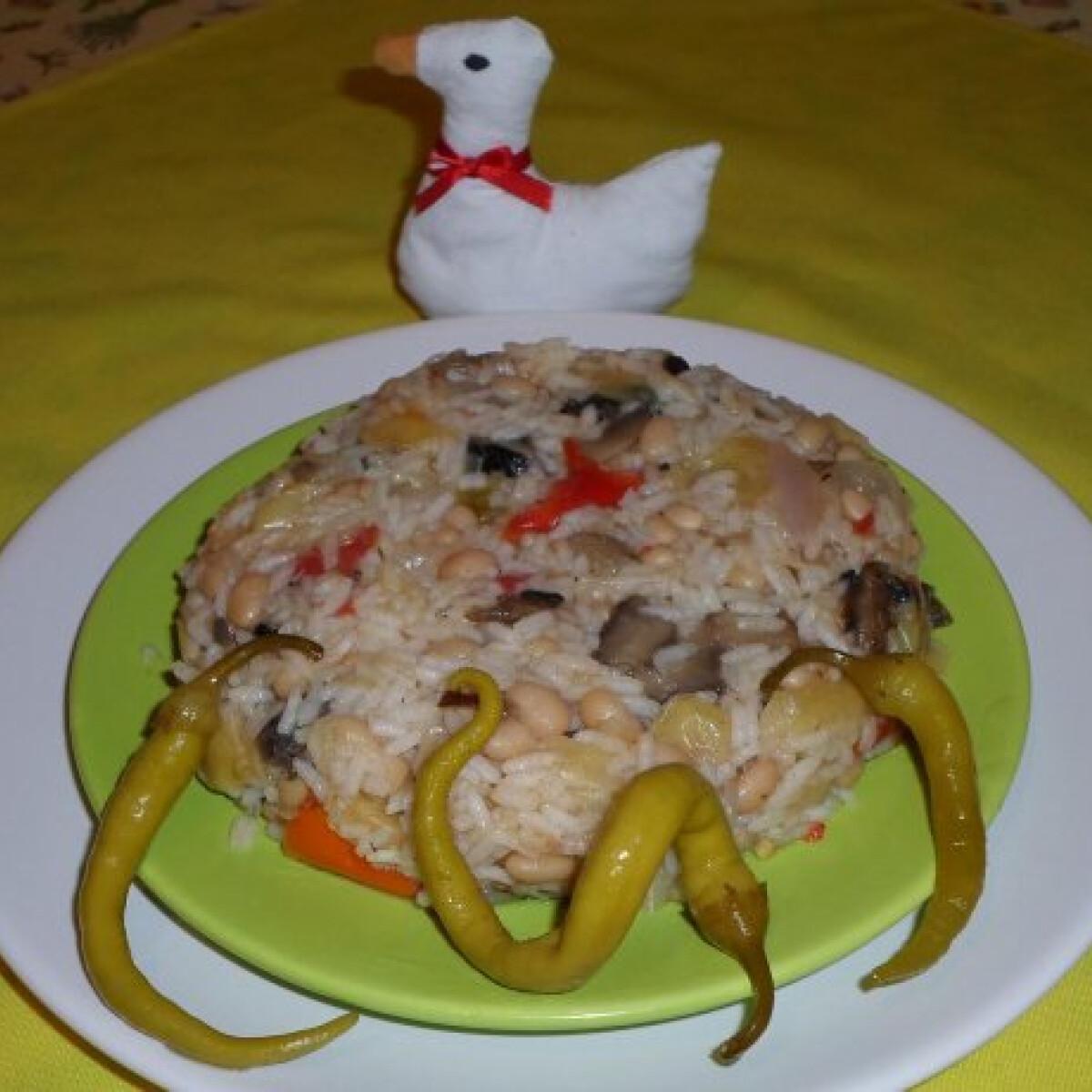 Ezen a képen: Babos-lecsós rizs