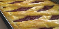 Vörösboros-szilvás pite