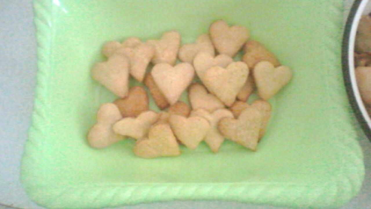 Szívecske formájú keksz