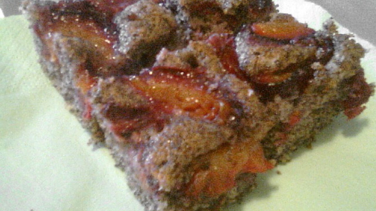 Szilvás-mákos sütemény