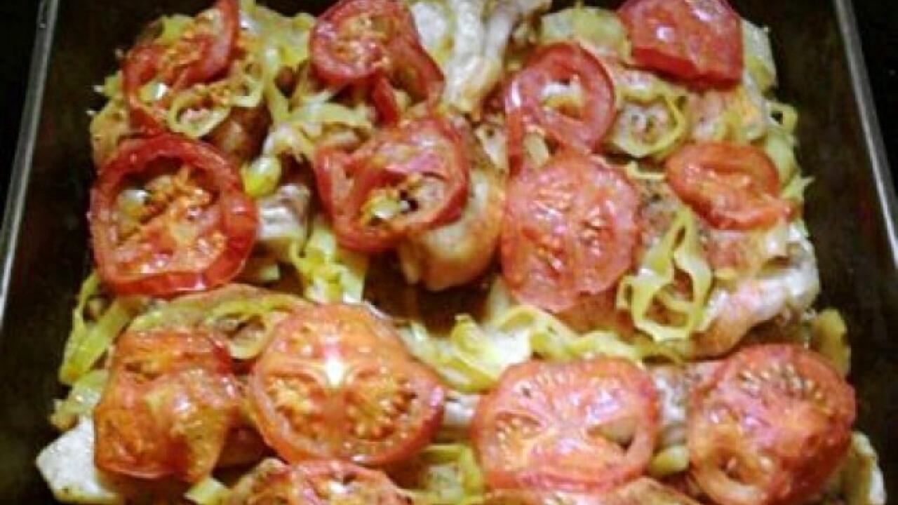 Zöldséges csirkecombok szalonnával