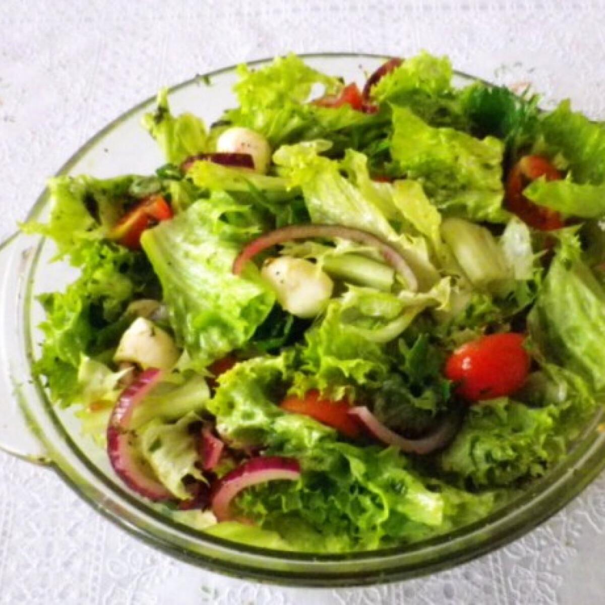 Ezen a képen: Bazsalikomos saláta