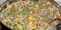 Zöldséges-rizses máj