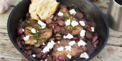 Mangalicakaraj szőlővel és kecskesajttal