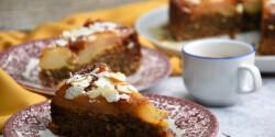 Paleo körtés mandulás fordított torta