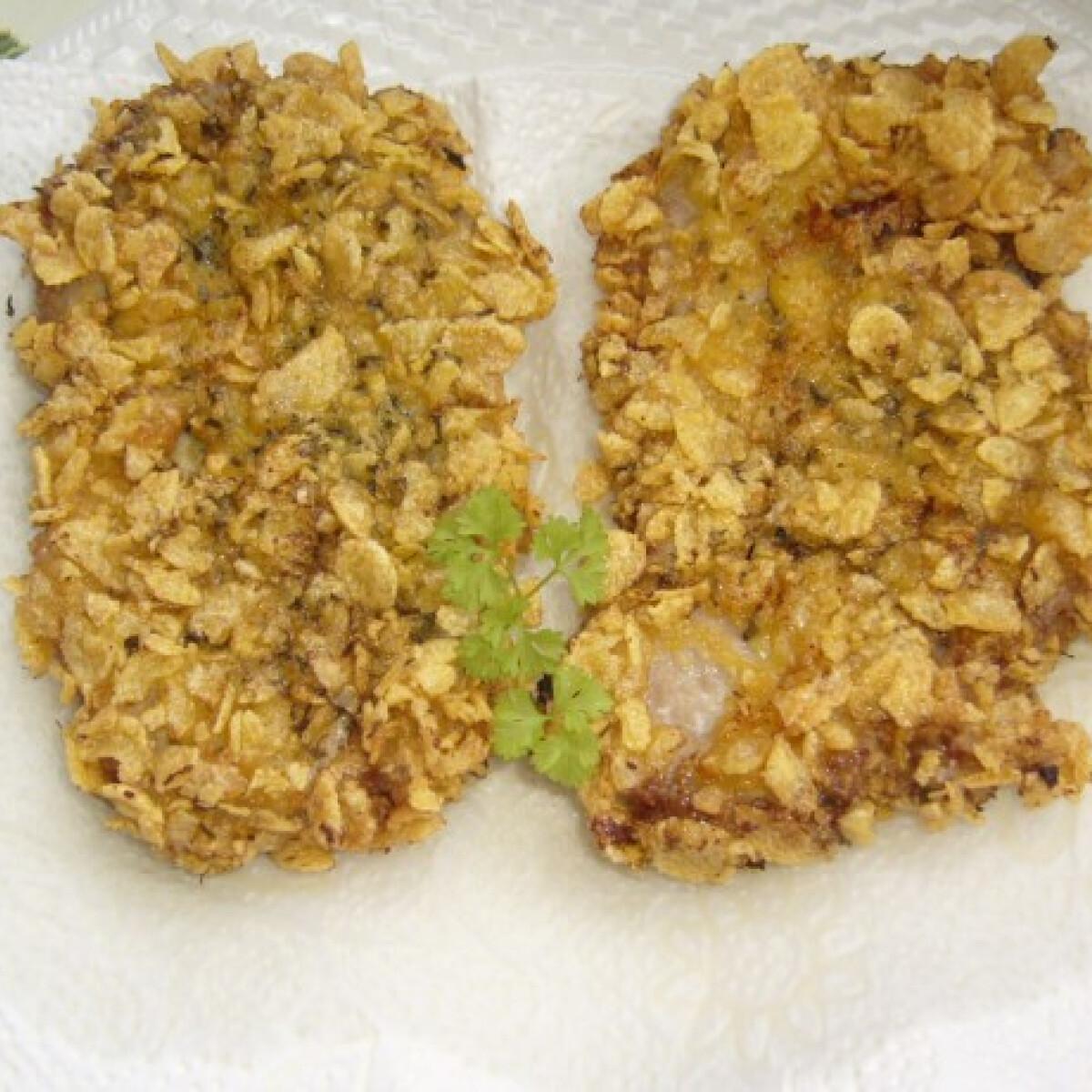 Ezen a képen: Chips-es vagy corn flakes-es rántott hús