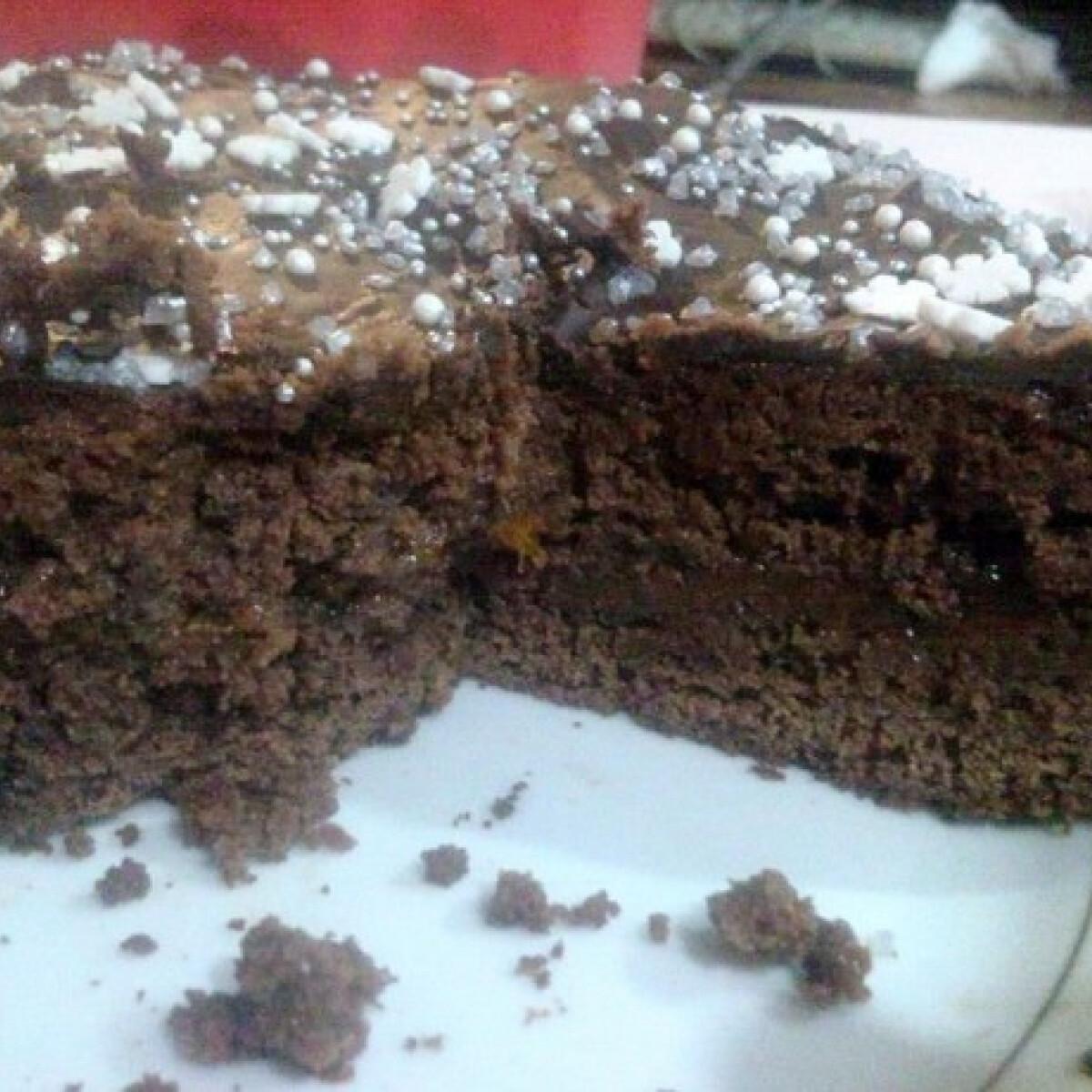 Gluténmentes sacher torta Anna módra