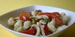 Olívás-gombás karfiolsaláta