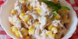 Majonézes tonhalas kukoricasaláta