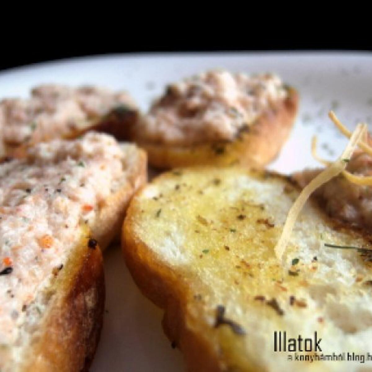 Ezen a képen: Chilis-gyömbéres garnélapástétom baguettel