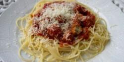 Húsgombócos bolognai spagetti