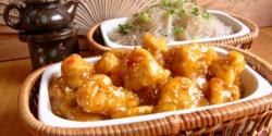 Bundás csirkefalatok gyömbéres-chilis mázban