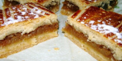 Almás pite kelt tésztából