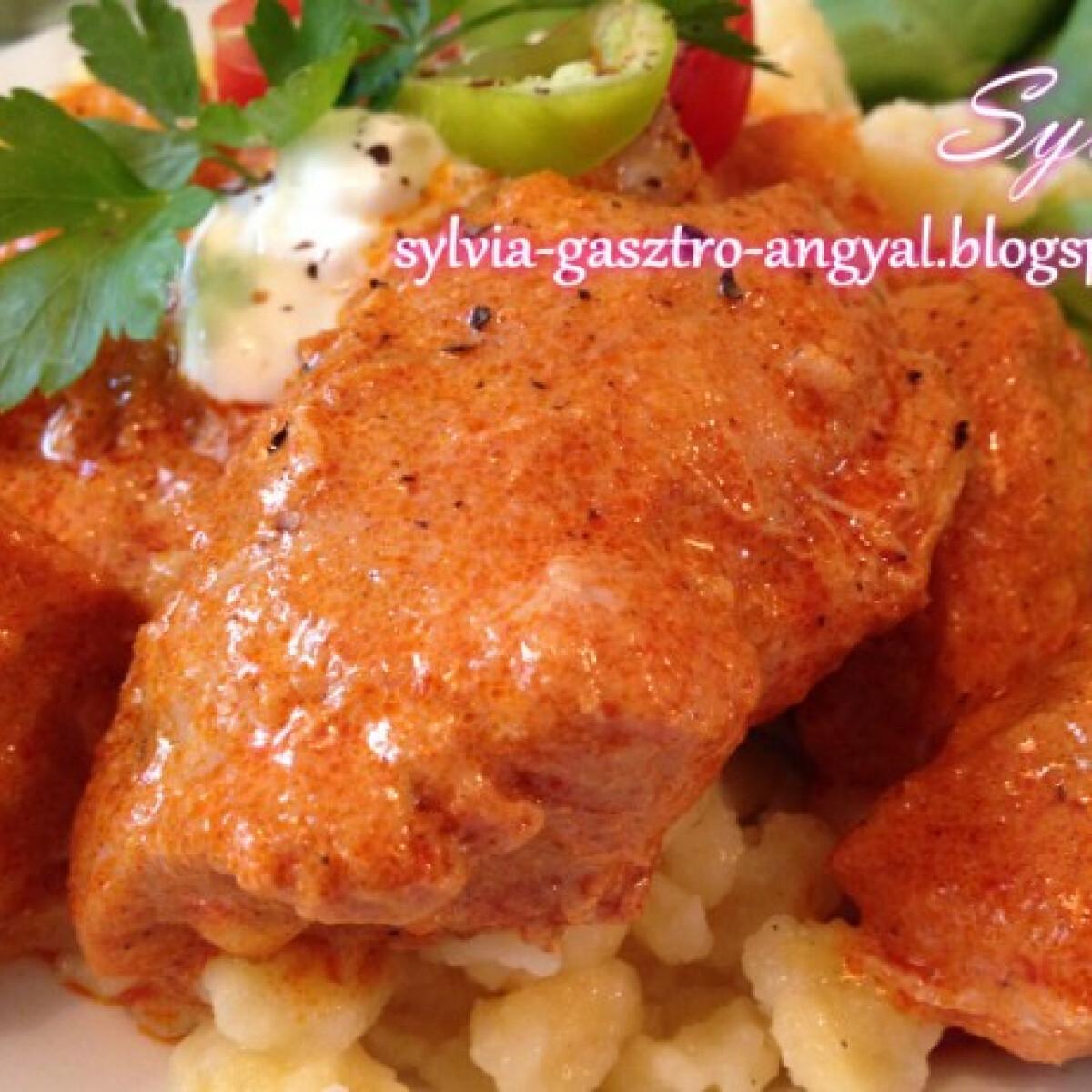 Csirkepaprikás Sylvia Gasztro Angyal konyhájából