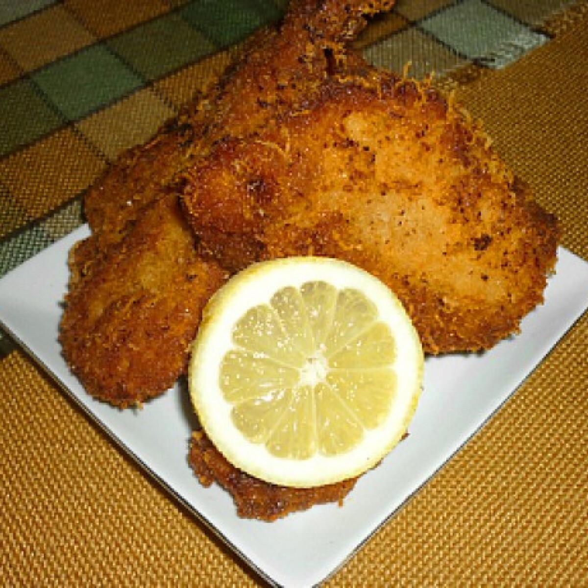 Ezen a képen: Citromos csirkefalatok sajtos bundában