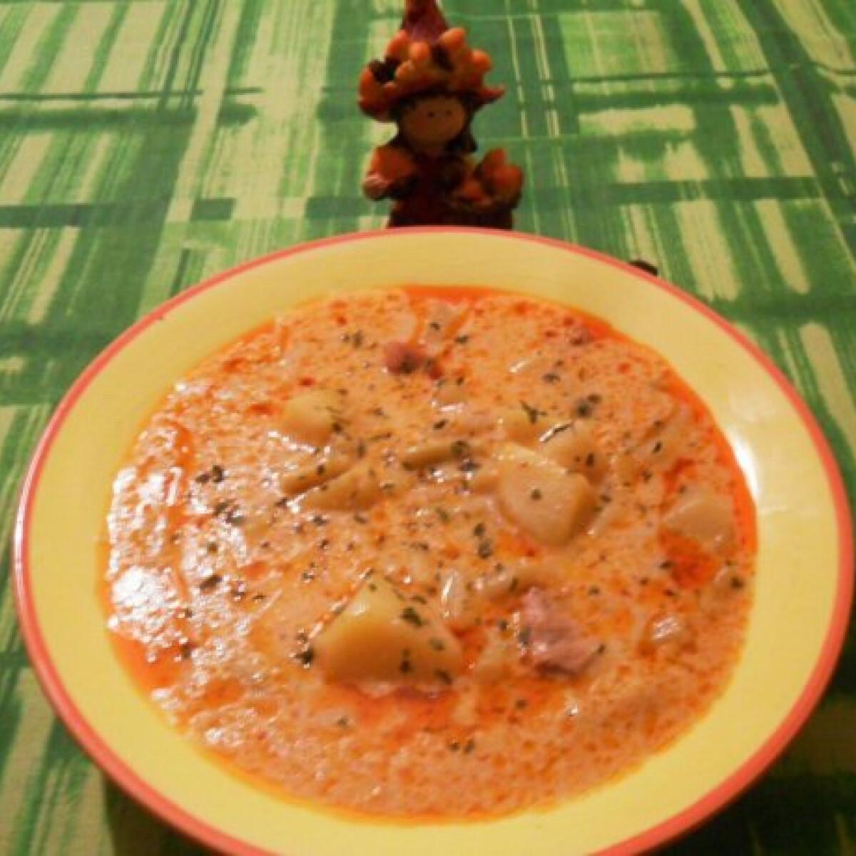 Ezen a képen: Tárkonyos zöldbabos-húsos leves