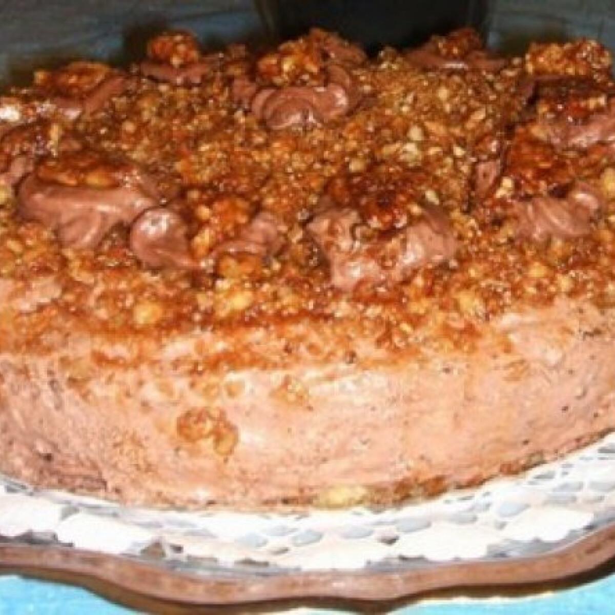 Csokis-nutellás torta