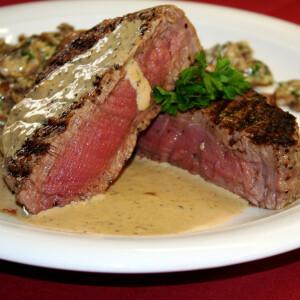 Ír marha steak borsmártásban