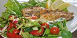 Tilápia salátaágyon