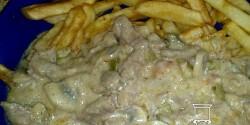 Tejszínes stroganoff hús