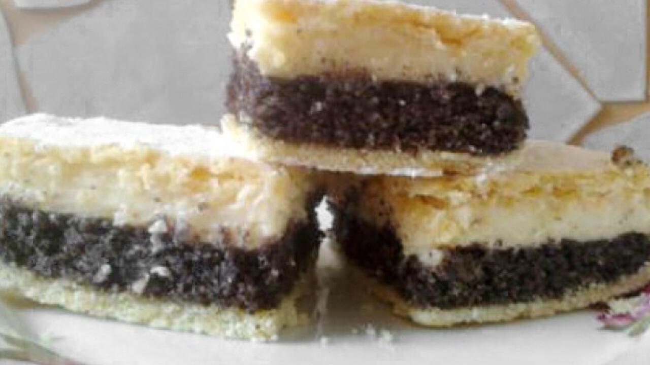 Mákos-pudingkrémes süti
