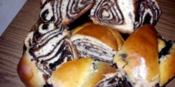 Csokis fonott kalács