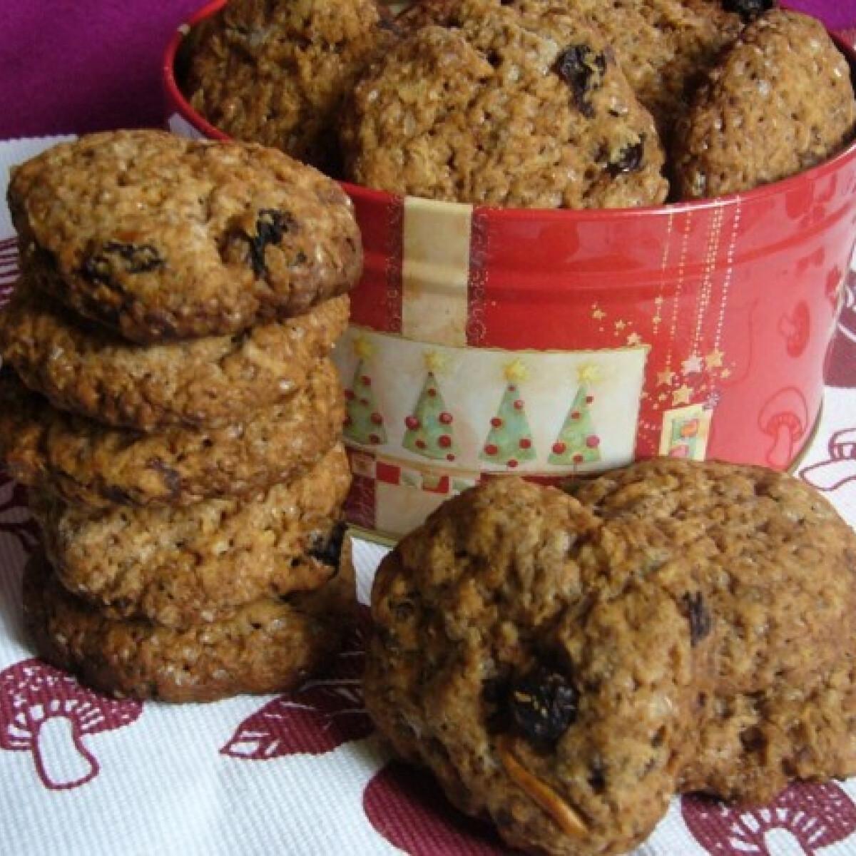 Vegán fűszeres almás keksz