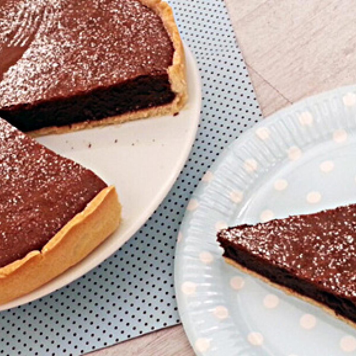 Ezen a képen: Gyors csokis pite