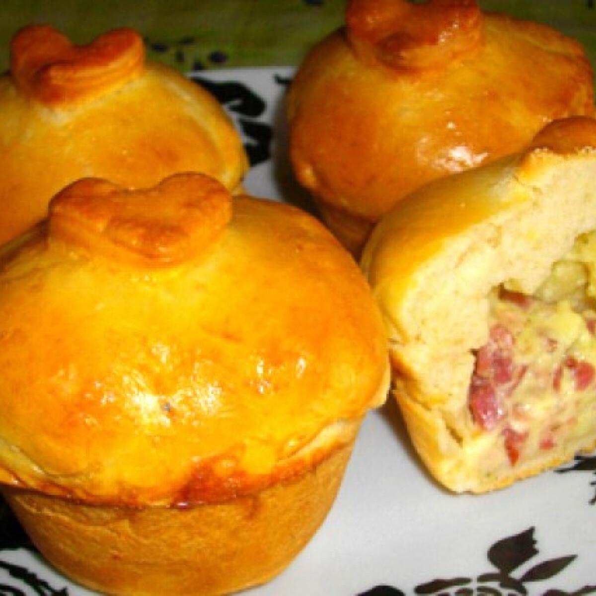 Ezen a képen: Tarjás-krémsajtos muffin