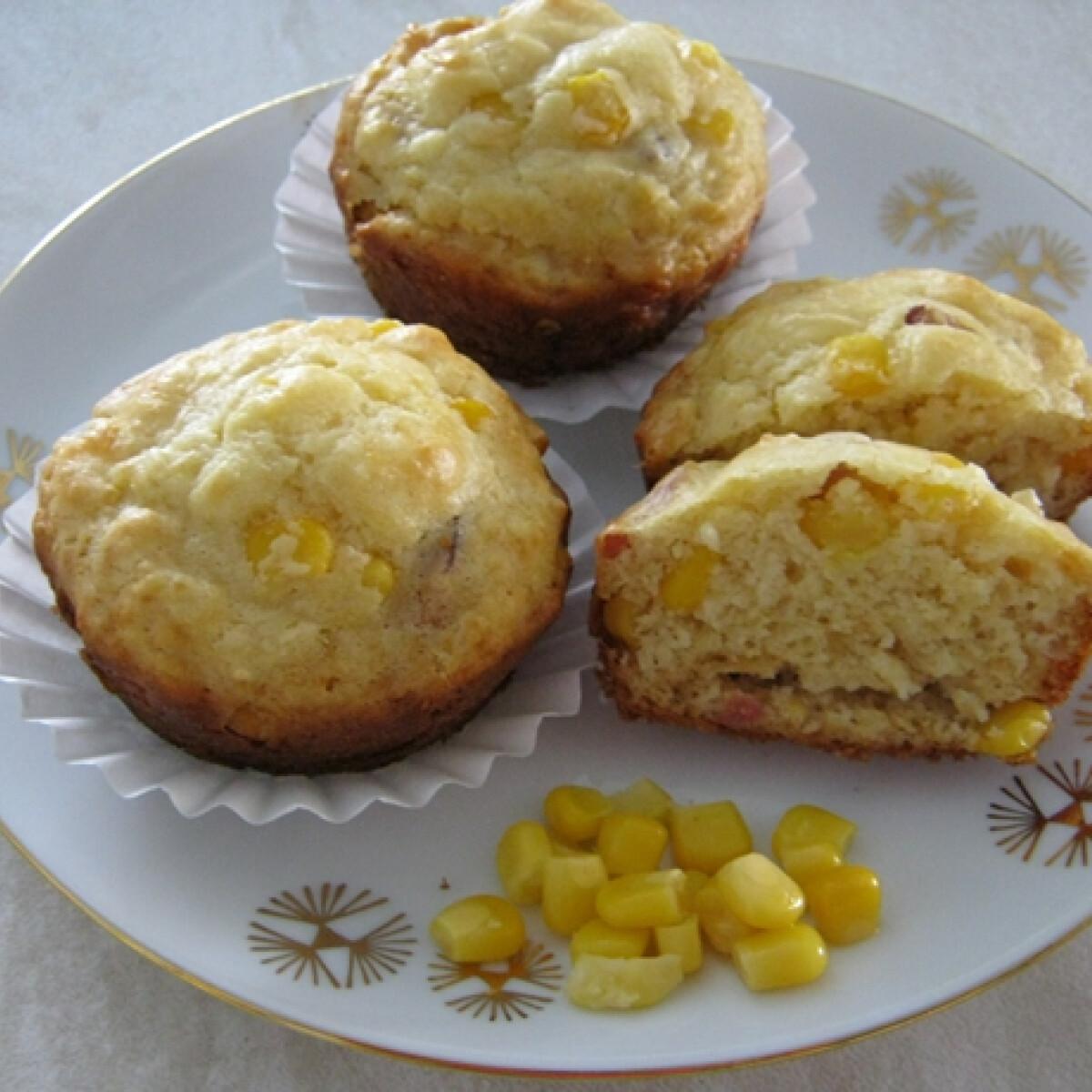 Kukoricás - szalonnás muffin