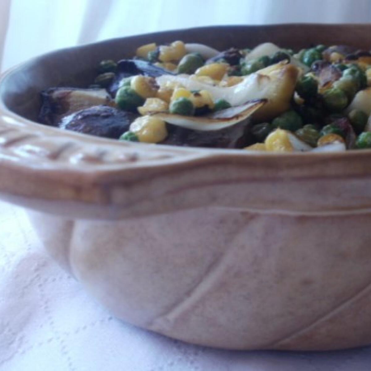 Zöldséges csirkemáj wokban