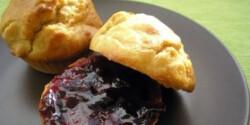 Földimogyorós muffin áfonyalekvárral