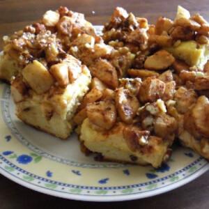 Almás pite grillázzsal