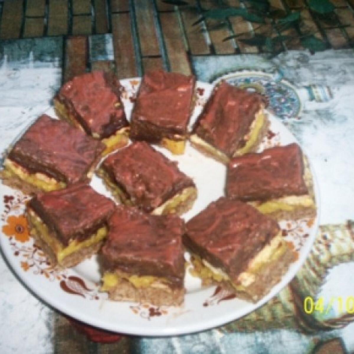 Ezen a képen: Diós rakottas sütemény