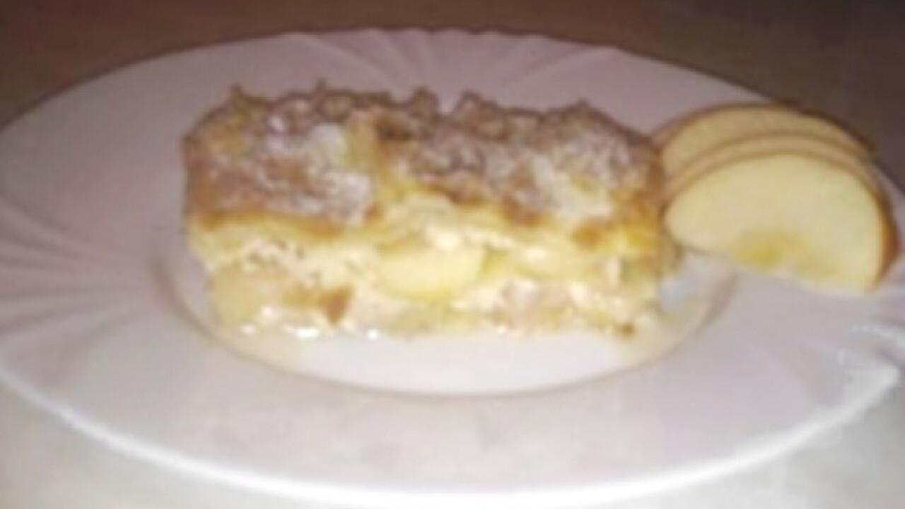 Édes almás lasagne