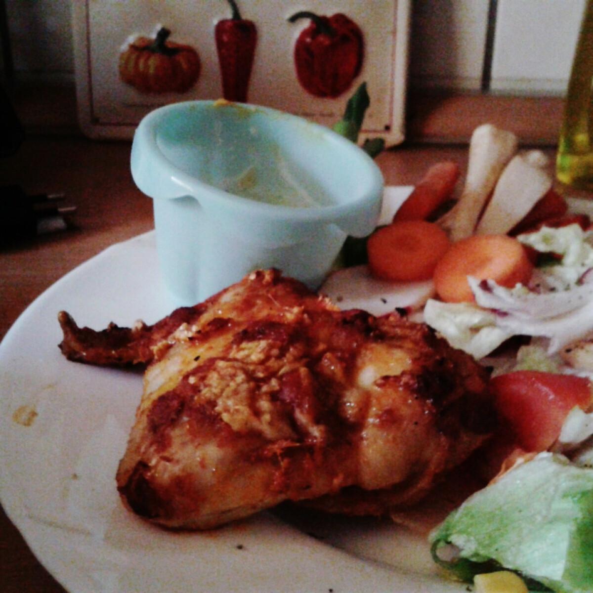 Curry-s fokhagymás csirkeszárny